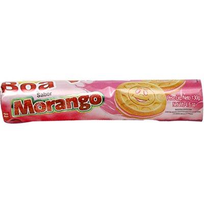 Biscoito recheado sabor morango 110g Juvi's pacote PCT