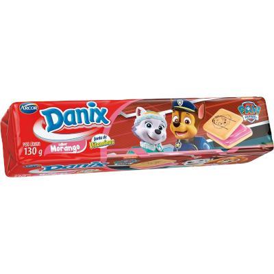 Biscoito Recheado sabor Morango 130g Arcor/Danix pacote PCT