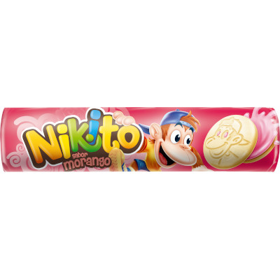 Biscoito Recheado  sabor Morango  135g  Zabet/Nikito pacote PCT