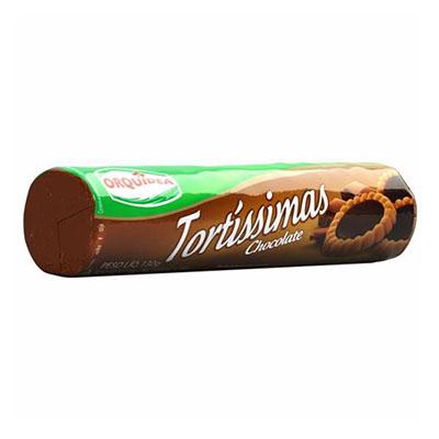 Biscoito recheado tortinha de chocolate 130g Tortíssimas pacote PCT