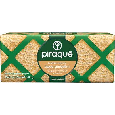 Biscoito salgado água e gergelim 200g Piraquê pacote PCT