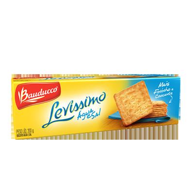 Biscoito salgado água e sal 200g Levíssimo Bauducco pacote PCT