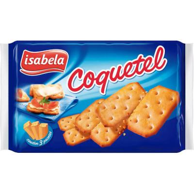 Biscoito Salgado  Coquetel  360g  Isabela pacote UN