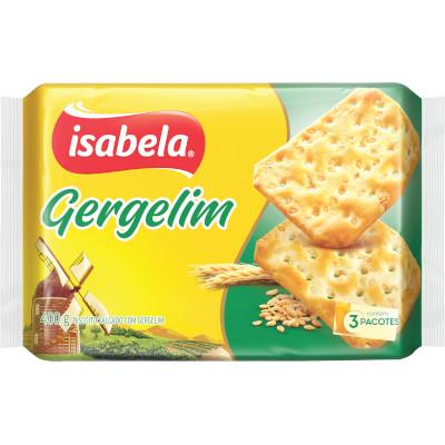 Biscoito Salgado Cracker Gergelim 400g Isabela pacote PCT