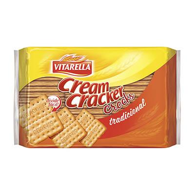 Biscoito Salgado Cream Cracker Crocks 400g Vitarella pacote PCT
