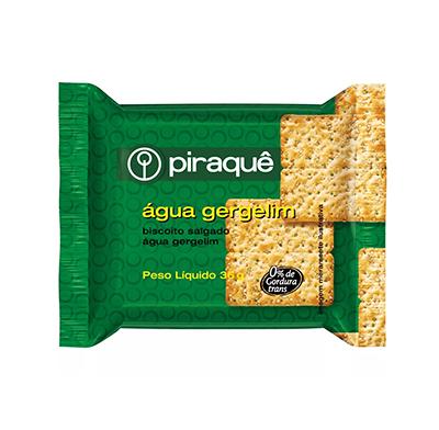 Biscoito salgado cream cracker gergelim 60 unidades de 36g Piraquê caixa CX