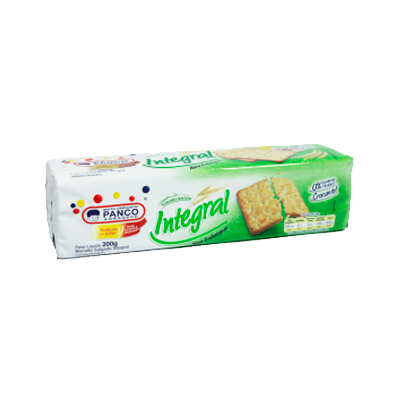 Biscoito salgado cream cracker integral 200g Panco pacote PCT