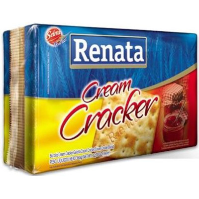Biscoito salgado cream cracker integral 360g Renata pacote PCT