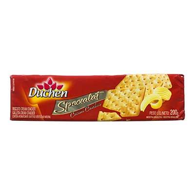 Biscoito Salgado Cream Cracker Manteiga 200g Specialat/Duchen pacote PCT