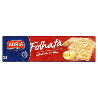 Biscoito Salgado Cream Cracker 200g Adria/Folhata pacote PCT