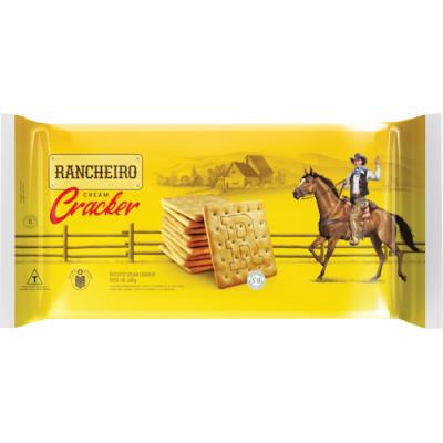 Biscoito salgado Cream Cracker 600g Rancheiro pacote PCT