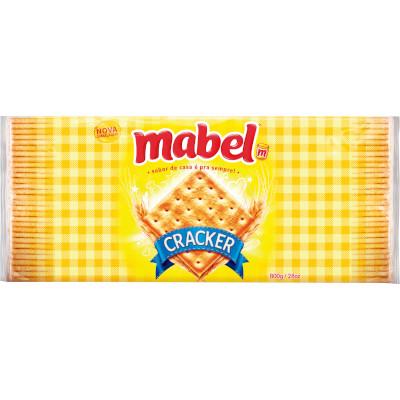Biscoito salgado Cream Cracker 800g Mabel pacote PCT