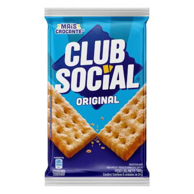 Biscoito Salgado Original 144g Club Social pacote PCT