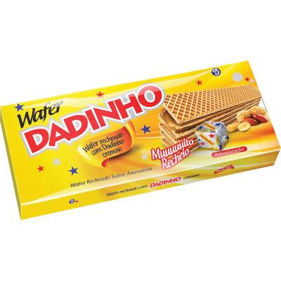 Biscoito wafer sabor amendoim 130g Dadinho pacote PCT