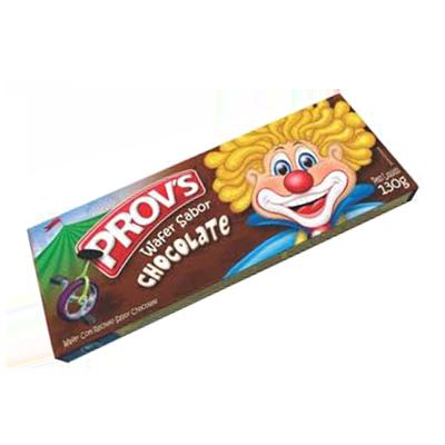 Biscoito wafer sabor chocolate 100g Provs pacote PCT