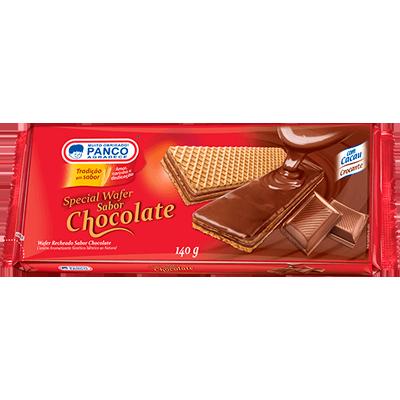 Biscoito wafer sabor chocolate 140g Panco pacote PCT