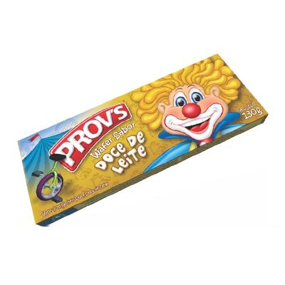 Biscoito wafer sabor doce de leite 100g Provs pacote PCT