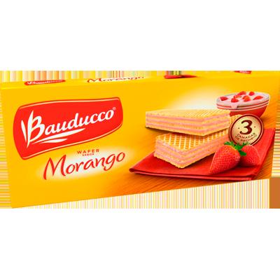 Biscoito wafer sabor morango 120g Bauducco pacote PCT