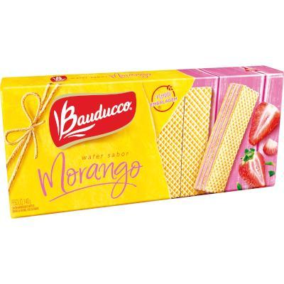 Biscoito wafer sabor morango 140g Bauducco pacote PCT