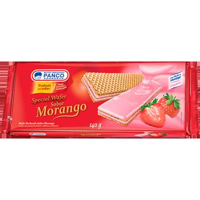 Biscoito wafer sabor morango 140g Panco pacote PCT