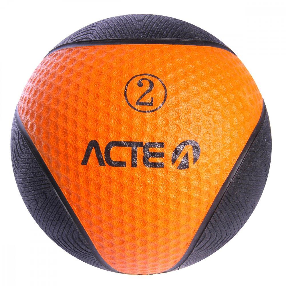 Bola de Peso Medicine Ball T102 Preta 2kg Acte  UN