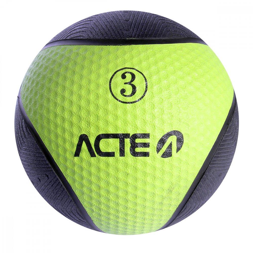 Bola de Peso Medicine Ball T103 Preta 3kg Acte  UN