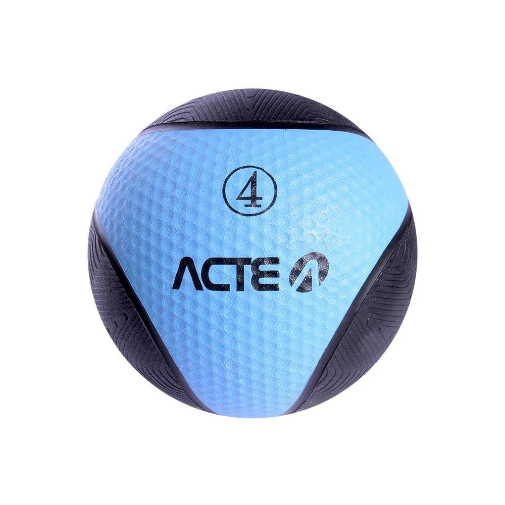 Bola de Peso Medicine Ball T104 Azul e Preta 4kg Acte  UN