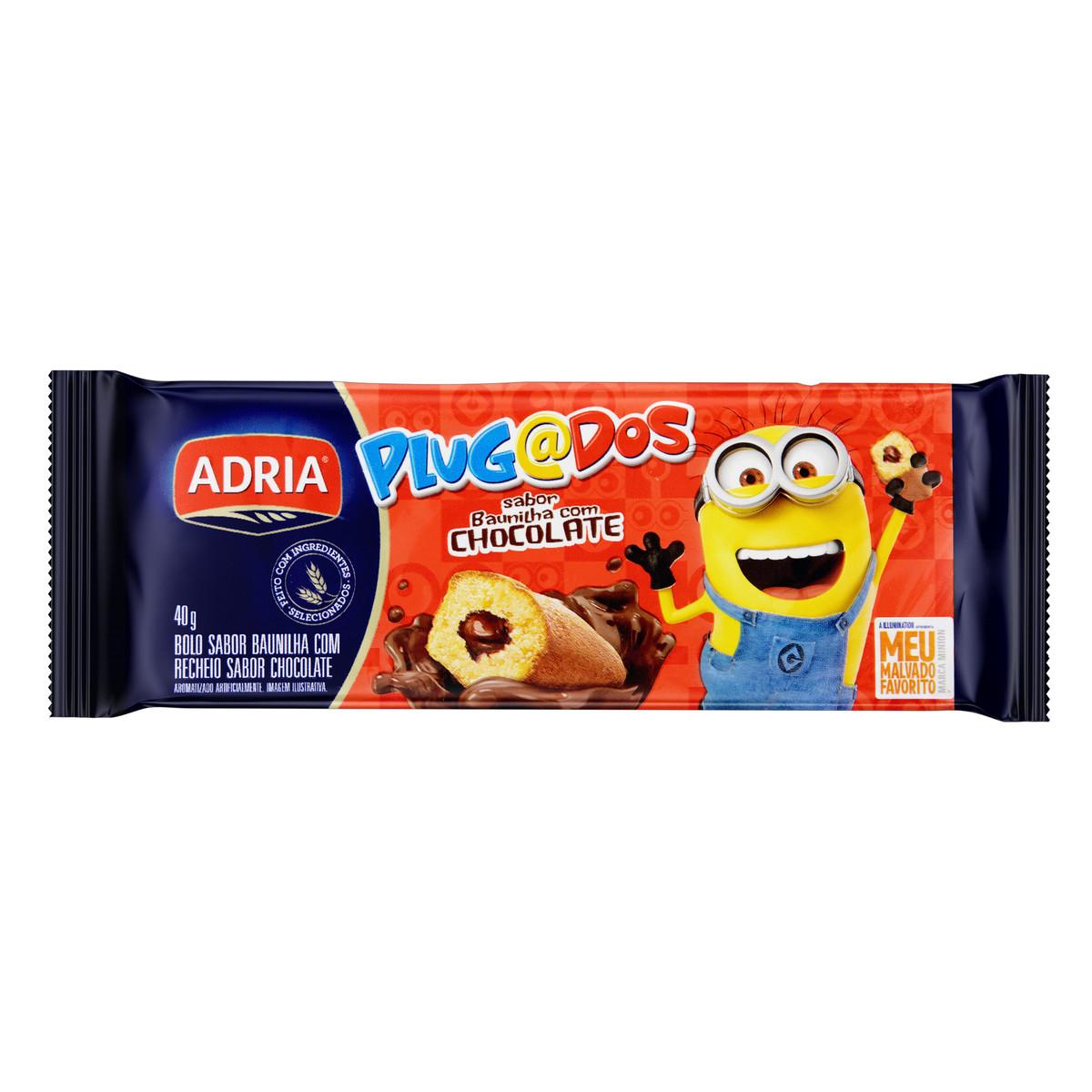 Bolinho sabor Baunilha e Chocolate 40g Adria/Plugados pacote UN