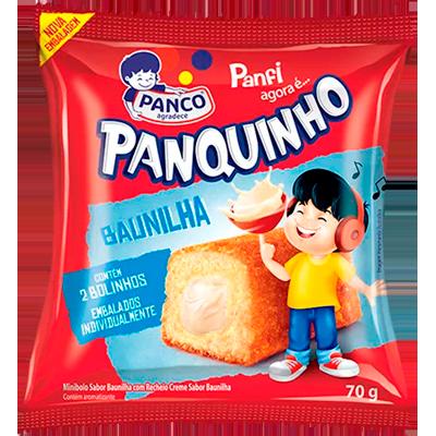 Bolinho sabor baunilha 2 unidades 80g Panco/Panfi pacote UN