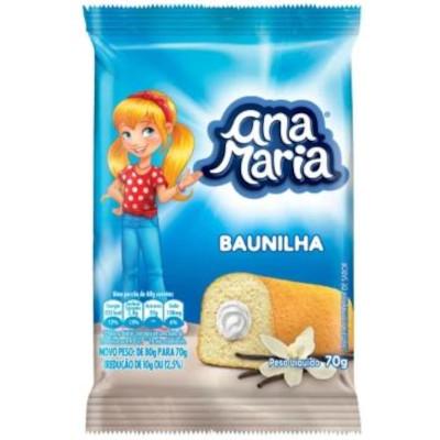 Bolinho sabor baunilha 70g Pullman/Ana Maria pacote UN