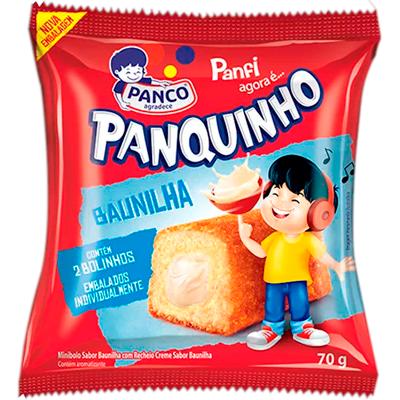 Bolinho sabor baunilha 80g Panco/Panquinho pacote UN