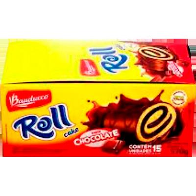 Bolinho sabor chocolate 15 unidades de 34g Bauducco/Roll Cake caixa CX