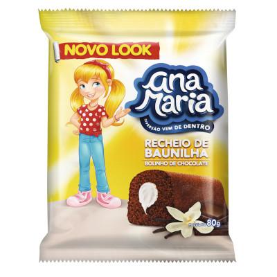 Bolinho sabor chocolate com baunilha 2 unidades 80g Pullman/Ana Maria pacote UN