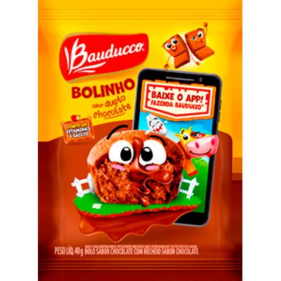 Bolinho sabor chocolate duplo 40g Bauducco  UN