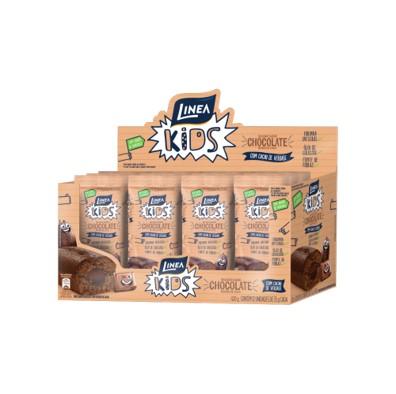Bolinho sabor chocolate e recheio de cacau 12 unidades de 35g Linea Kids caixa CX