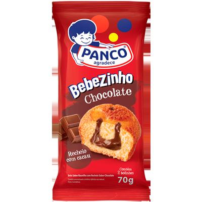 Bolinho sabor chocolate 70g Panco/Bebezinho pacote UN