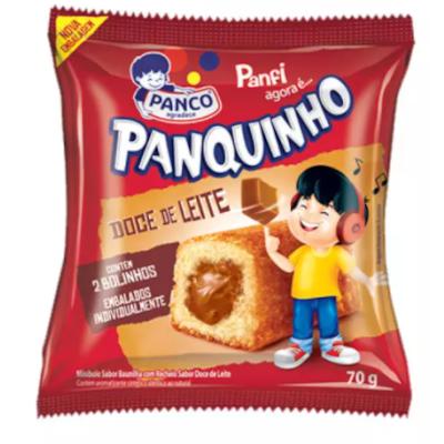 Bolinho sabor doce de leite 2 unidades 80g Panco/Panfi pacote UN