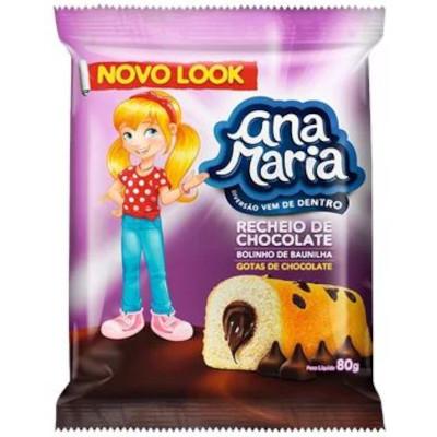 Bolinho sabor gotas de chocolate 70g Pullman/Ana Maria pacote UN