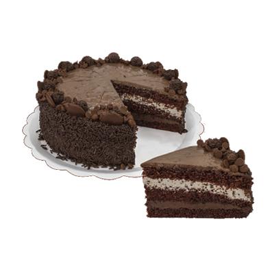 Bolo recheado sabor brigadeiro especial 16 fatias 2kg Empório das tortas  UN