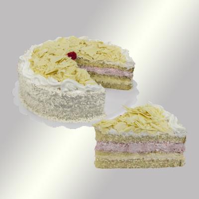 Bolo recheado sabor floresta branca 16 fatias 2kg Empório das tortas  UN