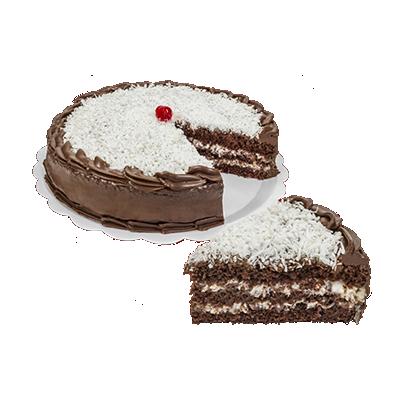 Bolo recheado sabor prestígio 16 fatias 2kg Empório das tortas  UN