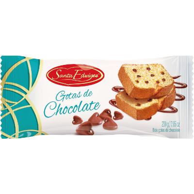 Bolo sabor gotas de chocolate 200g Santa Edwiges pacote UN