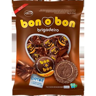 Bombom brigadeiro 50 unidades Arcor Bonobon pacote PCT