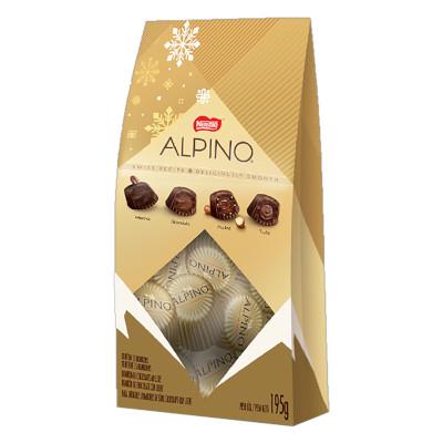 Bombom chocolate 195g Nestlé/Alpino caixa UN
