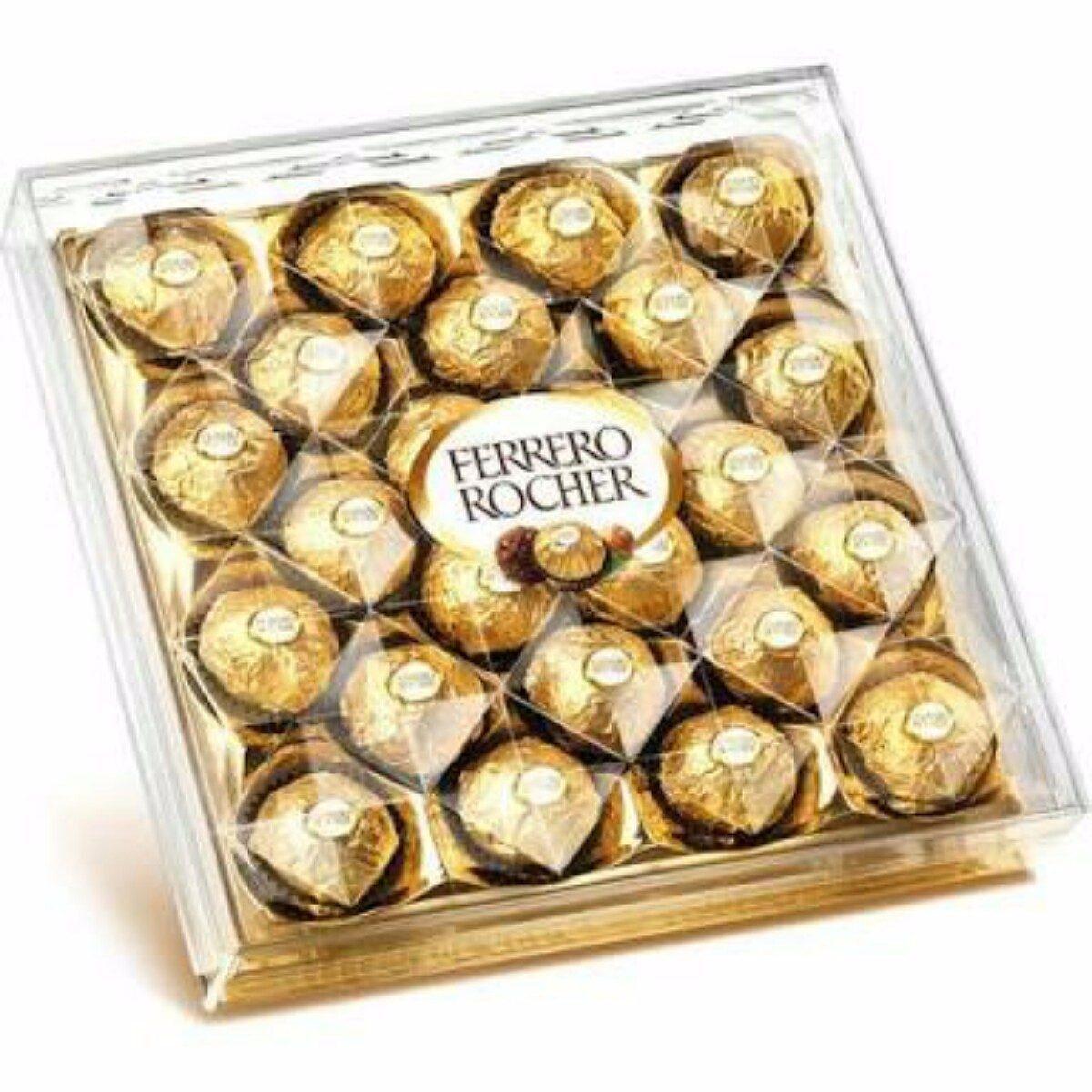 Bombom chocolate 24 unidades Ferrero Rocher caixa UN