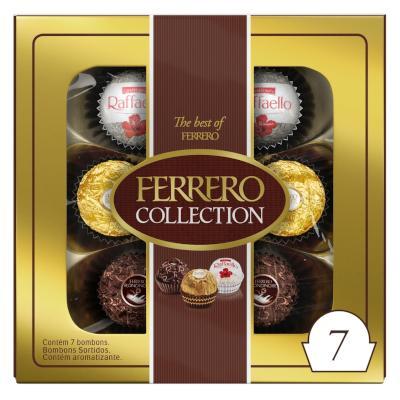 Bombom chocolate 7 unidades Ferrero Rocher/Collection caixa CX