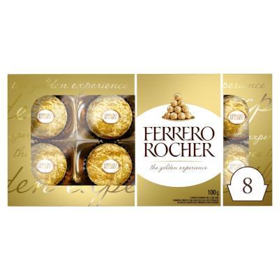 Bombom chocolate 8 unidades Ferrero Rocher caixa CX