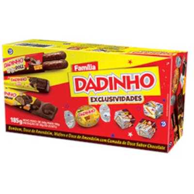 Bombom dadinho família exclusividades 185g Dadinho caixa CX