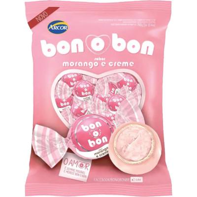 Bombom morango 50 unidades Arcor Bonobon pacote PCT