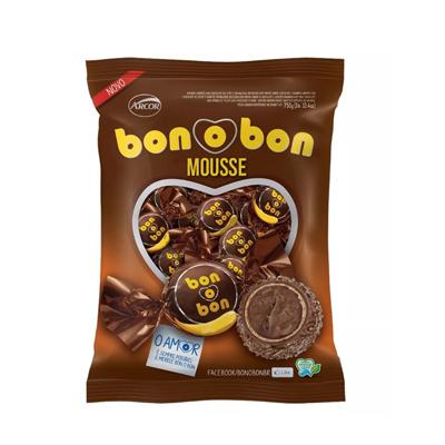 Bombom sabor Mousse de Chocolate 50 unidades Arcor/Bonobon pacote PCT
